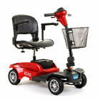 CareCo Eclipse Lightweight Portable Car Boot Travel Mobility Scooter  Red / Blue