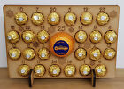 WOODEN ADVENT CALENDAR CHRISTMAS GIFT FITS 24 FERRERO ROCHER & CHOCOLATE ORANGE