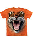 NEW NWT Ferocious Roaring Tiger Front and Center with Fangs T-Shirt