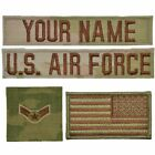 Внешний вид - 4 Piece Custom Air Force Name Tape & Rank Set USAF OCP Flag w/ Hook Fastener Bac