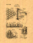 Billiard Ball Rack Patent Print $9.95 USD on eBay