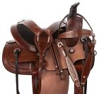 12 13 Western Youth Children's Kids Roping Trail Premium Leather Horse Saddle