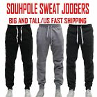BIG AND TALL FLEECE JOGGER SOUTHPOLE Active Slim Fit Unisex Sweat Pants 4~6XL