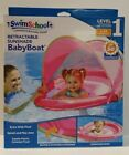 Swimschool Retractable Sunshade Baby Boat UPF-50 Blue or Pink 6-24 months old