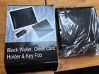 Brand new, never been opened black wallet, credit card holder and Kay Fob