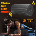 4 Speed Electric Rechargeable Vibrating Foam Roller Yoga Body Muscle Massage New