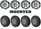 Kit 4 STI Chicane RX Tires 27x10-14 on ITP SS212 Machined Wheels FXT
