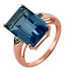 Swiss Blue Topaz 9.39 Ct. Exotic Ring Gold Chrtistmas And New Year top Jewelry