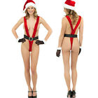 Womens Sexy Hot Santa Claus Cosplay Underwear Dress Christmas Lingerie Suits US