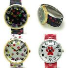 Ladies Novelty DOG PAW ANIMAL Stretch Elastic Band Fashion Watch Versales VS1 image