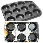 NON STICK 6/12 CUP CAKE DEEP BUN MUFFIN PIE YORKSHIRE PUDDING BAKING TRAY TIN PA
