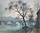 View of the Seine (F. Felix oil painting)
