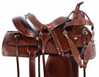 New Western Dark Oil Leather Trail Endurance Cutting Horse Saddle Tack Set 15 16