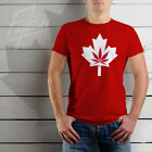 Canada Weed Men's T-shirt Red Short Sleeve Premium Tee CW4.3