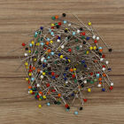 Внешний вид - 500pcs Glass Round Pearl Head Pins Multicolor Sewing Needles Pins DIY Crafts !