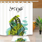 Tropical Banana Plant Leaf Shower Curtain Bathroom Waterproof Fabric