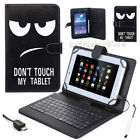 Leather Tablet Case Cover with Keyboard for Alcatel 1T 7/Lenovo Tab 7 Essential