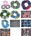 NASCAR Checkered Flag Racing Fabric Hair Scrunchies by Sherry £18.0  on eBay