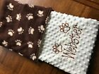 Personalized Embroidered Blanket Dog Pet Blanket Medium Size 30 x 36