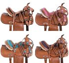 Cute Crystal Blingy Cowboy Western Leather Pony Kids Youth Saddle Tack 10 12 17