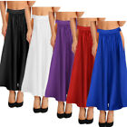 Womens Adult Belly Dance Soft Satin Long Skirt Swing Belly Dance Dress Costumes