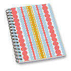 Pink Stripe Print Sheet Paper Notepad Diary for Office School College Notebook