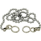 """REPLACEMENT CHROME 12"""" 18"""" SINK BASIN BATH BALL PLUG CHAIN AND S HOOK ENDS"""