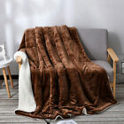 100*120cm Super Soft Sherpa Blanket Double Layer Bed Thick Warm Winter Blankets image