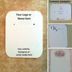 """10/20/50/100 CUSTOM PRINTED Earring Display Cards (2 X 2.5""""), ADD YOUR OWN LOGO"""