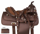 Used Light Weight Brown Western Trail Barrel Racing 14 Tack Pad