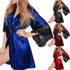 Womens Sexy Robes Perspective Erotic Nightwear Lace Short Nightdress Large Size