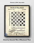 Checkers & Chess Board Game Framed Patent Art Print - Board Game Poster Art