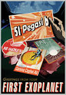 NASA Recruitment Travel Poster 51 Pegasi b Greetings from your First Exoplanet
