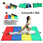 10'x4'x2'' PU Gymnastics Mat Gym Thick Folding Panel Yoga Exercise Tumbling Pad image