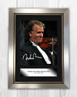 Andre Rieu A4 reproduction signed picture poster. Choice of frame.