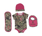BROWNING BUCKMARK FUCHSIA & MOSSY OAK BREAK-UP CAMO BABY SET NWT