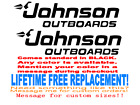 Pair of JOHNSON OUTBOARDS BOAT stickers decals  ANY COLOR  ANY SIZE