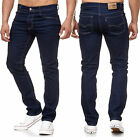 Sxj Herren Thermo Jeans Hose Fleece gefüttert Denim Stretch Winterhose 9150