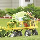 400-Lb. Cap. Steel Outdoor Lawn Garden Pull Wagon Cart Trailer Removable Sides