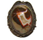 Natural Agate Ring - 7. Vintage style. Russia
