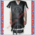 Thick black Color Roman Viking Gambeson Medieval Padded Leather Look Armor Dres/