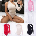 One Shoulder Leotard Jumpsuit Women Sexy Bodysuit Blouse Rompers Tank Tops New