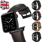UK 100% Genuine Leather Band Strap for A pple Watch Series 1/2/3/4 38/42 40/44mm