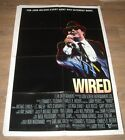 1989 WIRED 1 SHEET MOVIE POSTER MICHAEL CHIKLIS as JOHN BELUSHI BIOGRAPHY