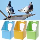 Feeding Box Pigeons Water Drinking T Bird Cage Dispenser Yellow Feeder Po 1pcs
