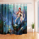 Mermaid and Wings Big Size Shower Curtain Bathroom Polyester Fabric Decor 210cm