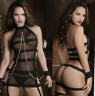 Sexy Lingerie Sleepwear Lace Women G String Dress Underwear Babydoll Nightwear