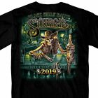 2019 Sturgis Shirt Motorcycle Black Hills Rally Skeleton Saloon Black T #1784 image