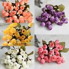 Uk 15 Heads Silk Peony Artificial Flowers Peony Wedding Bouquet Party Home Decor