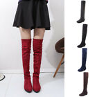 Over The Knee Suede Boots Low Heel Riding High Boots Women Fashion Cool Shoes